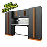 Proslat Fusion Pro 6-Piece Garage Workbench System - The Works (Orange)