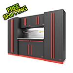 Proslat Fusion Pro 6-Piece Garage Cabinet System - The Works (Barrett-Jackson Edition)