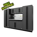 Proslat Fusion Pro 6-Piece Garage Cabinet System - The Works (Black)