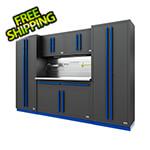 Proslat Fusion Pro 6-Piece Garage Cabinet System - The Works (Blue)