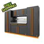 Proslat Fusion Pro 6-Piece Garage Cabinet System - The Works (Orange)