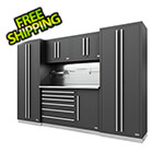 Proslat Fusion Pro 6-Piece Tool Cabinet System - The Works (Silver)