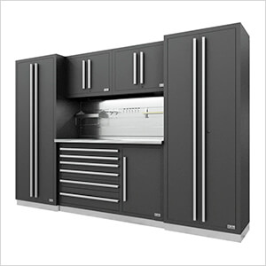 Fusion Pro 6-Piece Tool Cabinet System - The Works (Silver)