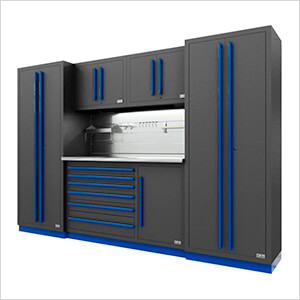 Fusion Pro 6-Piece Tool Cabinet System - The Works (Blue)
