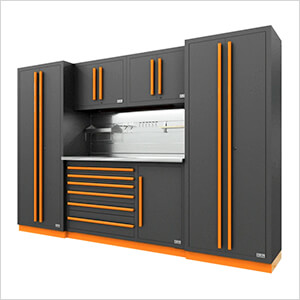 Fusion Pro 6-Piece Tool Cabinet System - The Works (Orange)