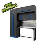 Proslat Fusion Pro 7-Piece Garage Workbench System - The Works (Blue)