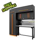 Proslat Fusion Pro 7-Piece Garage Workbench System - The Works (Orange)