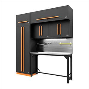 Fusion Pro 7-Piece Garage Workbench System - The Works (Orange)