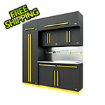 Proslat Fusion Pro 7-Piece Garage Cabinet System The Works (Yellow)