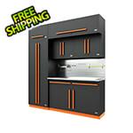 Proslat Fusion Pro 7-Piece Garage Cabinet System - The Works (Orange)