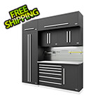 Proslat Fusion Pro 7-Piece Tool Cabinet System - The Works (Silver)