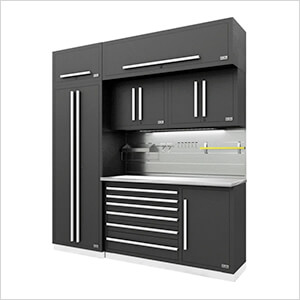 Fusion Pro 7-Piece Tool Cabinet System - The Works (Silver)