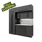 Proslat Fusion Pro 7-Piece Tool Cabinet System The Works (Black)