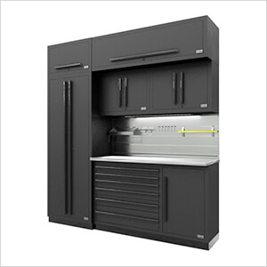Fusion Pro 7-Piece Tool Cabinet System - The Works (Black)