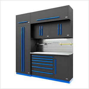 Fusion Pro 7-Piece Tool Cabinet System - The Works (Blue)