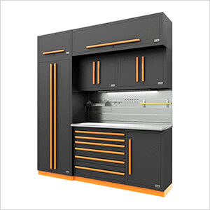 Fusion Pro 7-Piece Tool Cabinet System - The Works (Orange)
