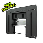 Proslat Fusion Pro 9-Piece Garage Workbench System - The Works (Black)