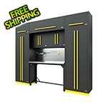 Proslat Fusion Pro 9-Piece Garage Workbench System - The Works (Yellow)