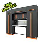 Proslat Fusion Pro 9-Piece Garage Workbench System - The Works (Orange)