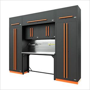 Fusion Pro 9-Piece Garage Workbench System - The Works (Orange)