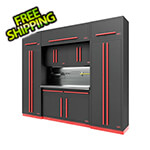 Proslat Fusion Pro 9-Piece Garage Cabinet System - The Works (Barrett-Jackson Edition)