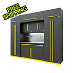 Proslat Fusion Pro 9-Piece Garage Cabinet System - The Works (Yellow)