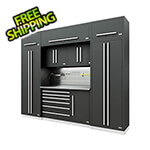 Proslat Fusion Pro 9-Piece Tool Cabinet System - The Works (Silver)