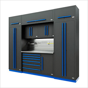 Fusion Pro 9-Piece Tool Cabinet System - The Works (Blue)