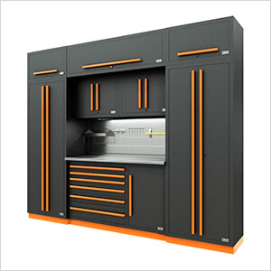 Fusion Pro 9-Piece Tool Cabinet System - The Works (Orange)