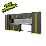 Proslat Fusion Pro 10-Piece Garage Cabinet System - The Works (Yellow)