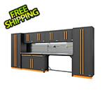 Proslat Fusion Pro 10-Piece Garage Cabinet System - The Works (Orange)