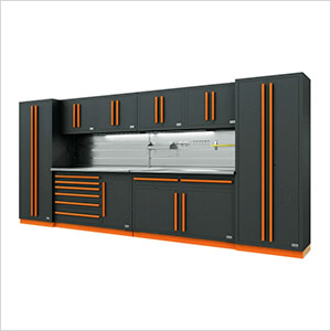 Fusion Pro 10-Piece Tool Cabinet System - The Works (Orange)