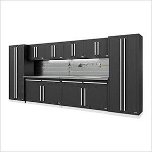 Fusion Pro 10-Piece Garage Storage System - The Works (Silver)