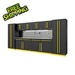 Proslat Fusion Pro 10-Piece Garage Storage System - The Works (Yellow)