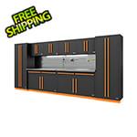 Proslat Fusion Pro 10-Piece Garage Storage System - The Works (Orange)