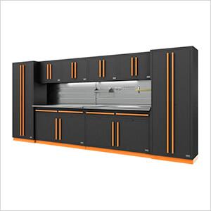 Fusion Pro 10-Piece Garage Storage System - The Works (Orange)