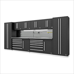 Fusion Pro 10-Piece Tool Cabinet System - The Works (Silver)