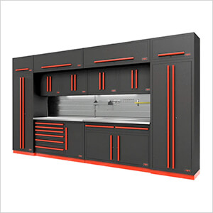 Fusion Pro 14-Piece Garage Cabinet System - The Works (Barrett-Jackson Edition)