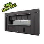 Proslat Fusion Pro 14-Piece Garage Cabinet System - The Works (Black)