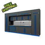 Proslat Fusion Pro 14-Piece Garage Cabinet System - The Works (Blue)