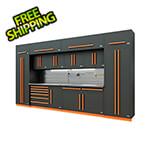 Proslat Fusion Pro 14-Piece Garage Cabinet System - The Works (Orange)