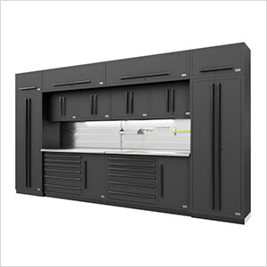 Fusion Pro 14-Piece Garage Storage System - The Works (Black)