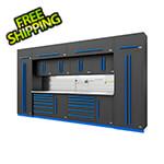 Proslat Fusion Pro 14-Piece Garage Storage System - The Works (Blue)