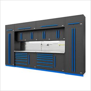 Fusion Pro 14-Piece Garage Storage System - The Works (Blue)
