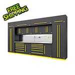 Proslat Fusion Pro 14-Piece Garage Storage System - The Works (Yellow)