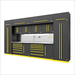 Fusion Pro 14-Piece Garage Storage System - The Works (Yellow)