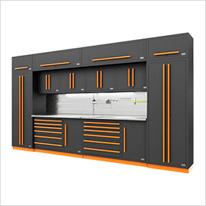 Fusion Pro 14-Piece Garage Storage System - The Works (Orange)