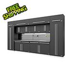 Proslat Fusion Pro 14-Piece Garage Cabinet Set - The Works (Silver)