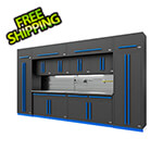 Proslat Fusion Pro 14-Piece Garage Cabinet Set The Works (Blue)