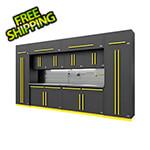 Proslat Fusion Pro 14-Piece Garage Cabinet Set - The Works (Yellow)